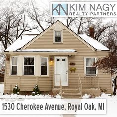 Just Listed | 1530 Cherokee Avenue, Royal Oak, MI  Squeaky clean Royal Oak bungalow loaded with charm! Great curb appeal with decorative gable and bay window. Completely updated eat-in kitchen boasts granite counters, warm cherry cabinets and floors, secretary desk and light-filled breakfast nook. Two bedrooms on entry level include one with access to lovely sun porch. Large master upstairs features cedar closet and huge walk-in. Partially finished basement has bonus office/r