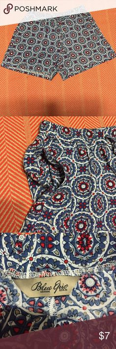 Summer shorts Super cute! Has pockets and a draw string. Perfect for summer or if you stay in Florida year round. Worn once Blue epic denim Shorts
