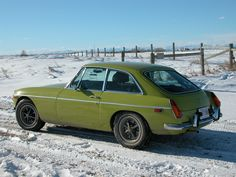 Winter driving in an MGB GT