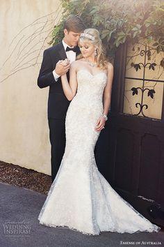 essense of australia wedding dress 2015 bridal strapless sweetheart neckline mermaid gown d1869