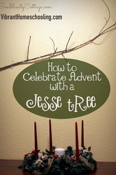 The ultimate post on Jesse Trees! History behind Jesse Tree, how to make a Jesse Tree, links to free ornaments and more! 12 Days of Christmas Teachable Moments Series by VibrantHomeschooling.com