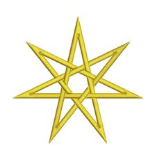 Machine Embroidery Design Instant Download - Faerie Star 7 pointed Star 1 by KnottyRoseDesigns on Etsy https://www.etsy.com/listing/176851379/machine-embroidery-design-instant