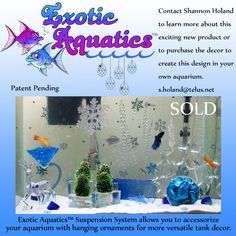 Exotic Aquatics™ Designer Aquarium featuring the Extotics Aquatics™ Suspension…