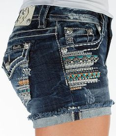 Miss Me Frayed Stretch Short. Love the patterns!!