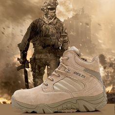 Delta Brand Military Tactical Boots Desert Combat Outdoor Arm... More