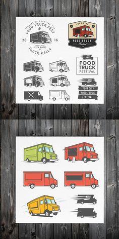 Ideas For Food Truck Design Logo Inspiration Ideas Food Truck Design, Food Design, Dump Truck Cakes, Truck Tattoo, Food Truck Festival, Pink Truck, Truck Paint, Monster Truck Birthday, Food Gallery