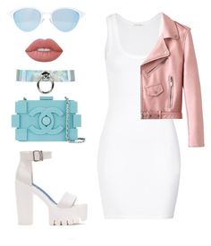 """""""bbbb"""" by tekla-476 ❤ liked on Polyvore featuring Lime Crime, Chanel, American Vintage and Quay"""