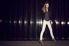 Rockport and Erin Wasson - wearing the Presia Zip Shootie Blue Exotic