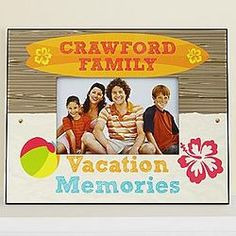 Personalized Vacation Memories Photo Frame