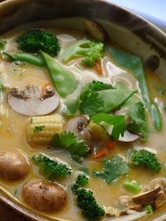 Tom Ka (thai) soup Mmmmm...seriously this looks yummy. must try. one of my favorite soups :)