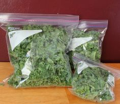 3 different ways to freeze kale ahead of time for green smoothies and other recipes.