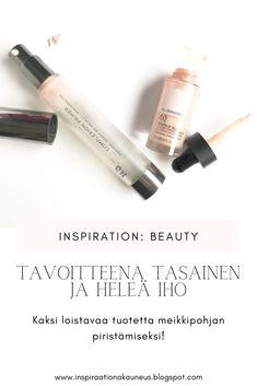 Blogissa juttua kahdesta meikkipohjan piristäjästä! #meikki #kosmetiikka #kauneus #blogi