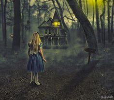 Alice in Wonderland Lewis Carroll, Goth Wallpaper, Mystery, Victorian Goth, Adventures In Wonderland, Fantasy, Rabbit Hole, Red Riding Hood, Beautiful Interiors