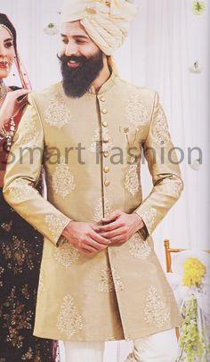 Indian Sherwani for Men Boys Beige Designer Jodhpuri Achkan   Etsy