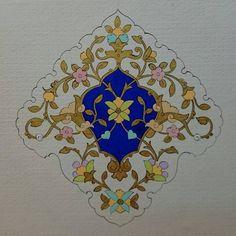༺❀༻Tezhip༺❀༻ Traditional Wall Decor, Tanjore Painting, Islamic Patterns, Stamp Carving, Turkish Art, Geometric Designs, Islamic Art, Flower Art, Free Design