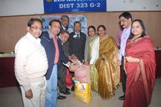 Bhopal Maitri Lions Club, India donated food and grains to Lions senior citizen home