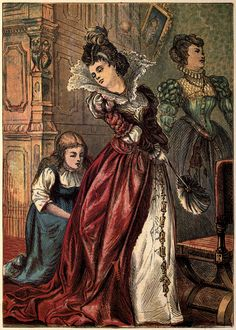 The second illustration of the 1865 edition of Cinderella
