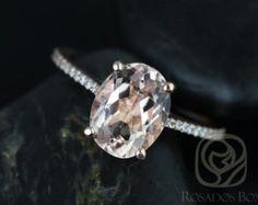 Blake 10x8mm 14kt Rose Gold Oval FB Moissanite and Diamonds   Etsy
