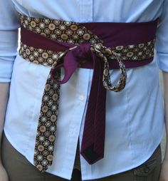 Librarian for Life + Style | Handmade tie belt from two scarves