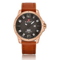 Fashion Brand NAVIFORCE 3ATM Waterproof Men Sports Watches Men's Leather Quartz Hours Date Clock Military Army Wrist Watch