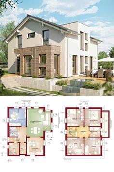 Modernes Design-Haus mit Satteldach - Fertighaus Celebration 137 V8 Bien Zenker - HausbauDirekt.de