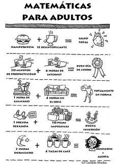 Matemáticas para adultos. #humor #risa #graciosas #chistosas #divertidas