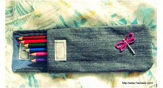 Tutorial: Denim pencil pouch from old jeans