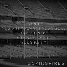Take a shot at it anyway. #goals #aim #kicklong #inspiration #entrepreneur #motivate #ckinspires