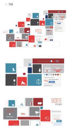 Sicotte Recrutement // Webdesign by Lorelei L Affeter, via Behance