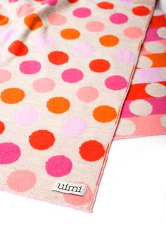 dot blanket in extra fine merino wool by uimi.com.au