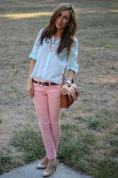 a43540d3260bc 27 Best Collection: Salmon pink Pants images in 2013 | Pink jeans ...