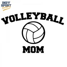 Volleyball Mom Text with Volleyball Decal or Sticker for your car, window, laptop or any other flat surface.