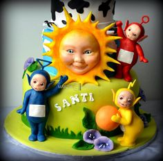 Torta Teletubbies in pasta di zucchero. Cake design e modelling Teletubbies Cake, Colored Sugar, Character Cakes, Music Party, Sugar Craft, Novelty Cakes, Cupcake Cookies, Cupcakes, 4 Kids