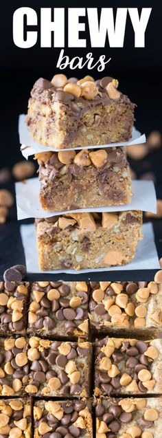 These Chewy Bars from Simply Stacie are a dessert lovers dream come true! Believe it or not they don't have any eggs, flour, butter or added sugar — but they are still one of the most delicious bars we have ever tried!