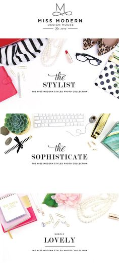 Styled Stock Photography Collection   for marketing, web design, blogging and social media. Effortless marketing for a styled brand. Miss Modern Design Shop.