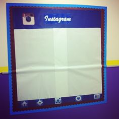 Bulletin board for good student work and pictures of the class in action....INSTAGOOD!!! :)