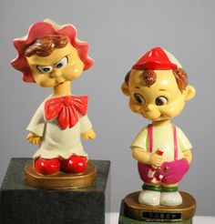 Vintage 1940s Paper Mache Tubby And Lulu Nodder Bobblehead Made In Japan