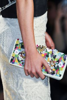 Nicole Miller Spring 2014 clutch! I love the colors! #DressUpPartyDown