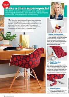 DIY Mod Podge MCM Chair with Fabric