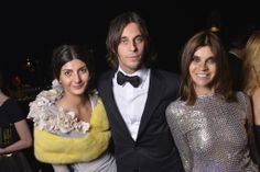 Giovanna Battaglia, Vladimir Restoin Roitfeld and Carine Roitfeld at Cannes