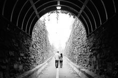 Tunnel in Old Town Alexandria, VA for an engagement session
