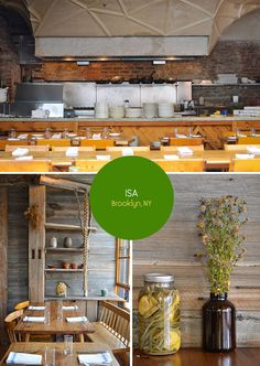 ISA restaurant in Williamsburg, Brooklyn. From the Spotted SF blog.