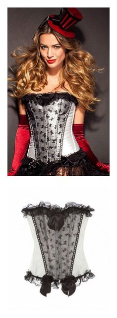 Lace black corset for a DIY vampire Halloween costume from Adore ...
