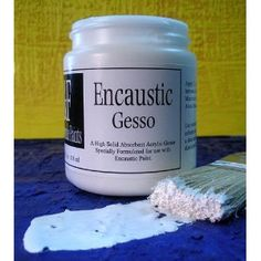 A fairly new product to the commercial art world is Encaustic gesso. A very good one, made by R & F Paints, allows us to: omit the initial beeswax 'primer' layer create a white, toothy, gesso'd surface ideal for Encaustics…Read more › Gesso Art, Encaustic Painting, Dot Painting, Wax Art, Commercial Art, Art Plastique, Art Techniques, Art Lessons, Painting Lessons