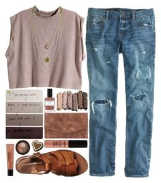 The tones of the earth by ladyvalkyrie on Polyvore featuring H&M, J.Crew, Windsor Smith, Urban Decay, philosophy, NYX, Stila and Nailberry
