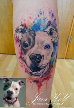 Cómo me encanta hacer perros! :D - Diseño y estilo propio.  Tattooed by javiwolfinkwww.javiwolf.com