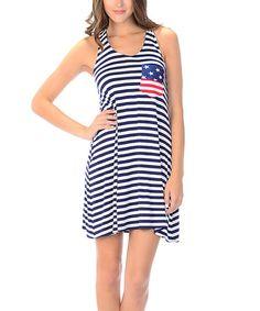 Another great find on #zulily! Navy Stripe Racerback Dress #zulilyfinds