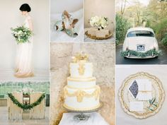 gold and ivory weddings   No matter what the season, an ivory, gold, and green wedding is a ...