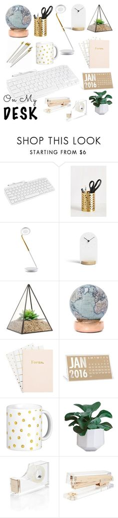 """""""On my Desk"""" by dancebabe3 ❤ liked on Polyvore featuring interior, interiors, interior design, home, home decor, interior decorating, Minimal, Bellerby & Co, Kate Spade and onmydesk"""