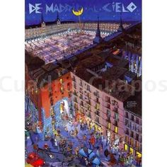 Comic, Plaza Mayor Madrid: La Movida Madrileña - CuadrosGuapos.com